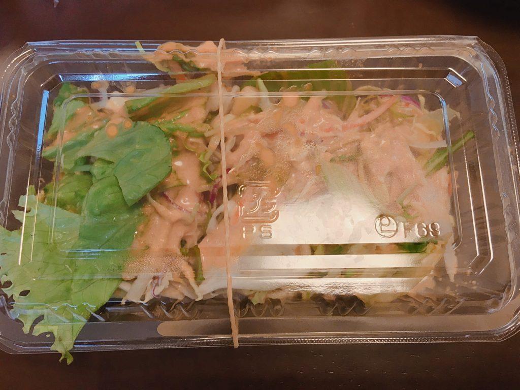 茗荷谷マナカマナテイクアウトランチのサラダ