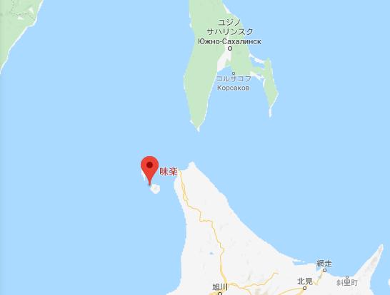 利尻島の地図