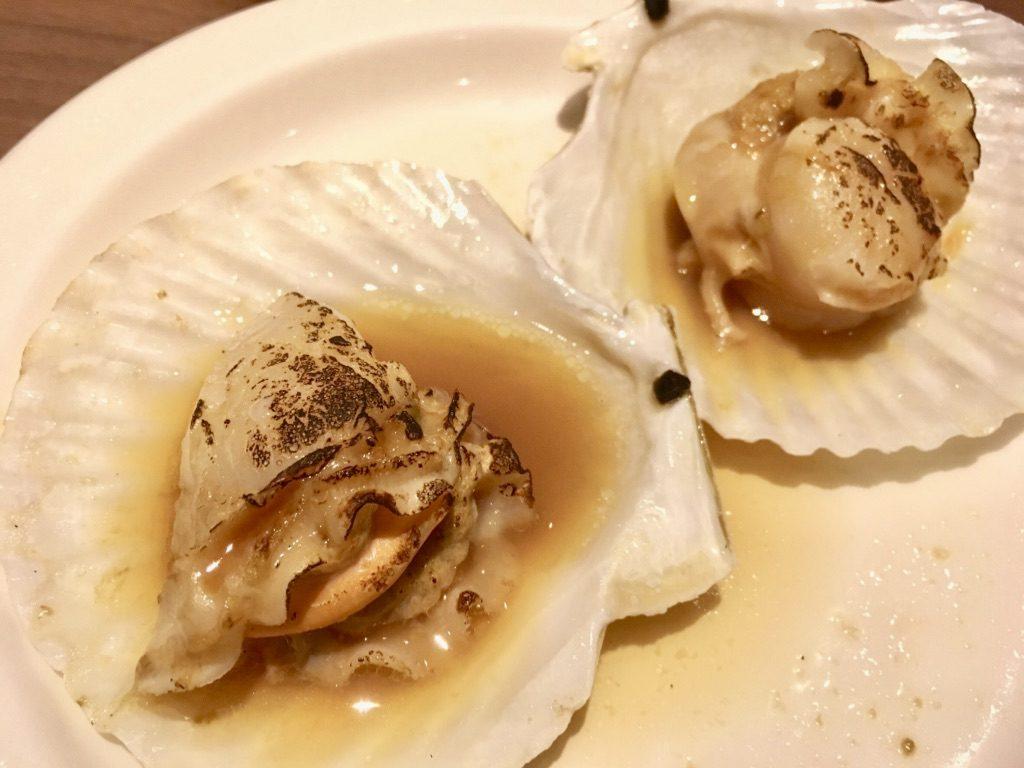 北海道産帆立貝の鉄板焼き