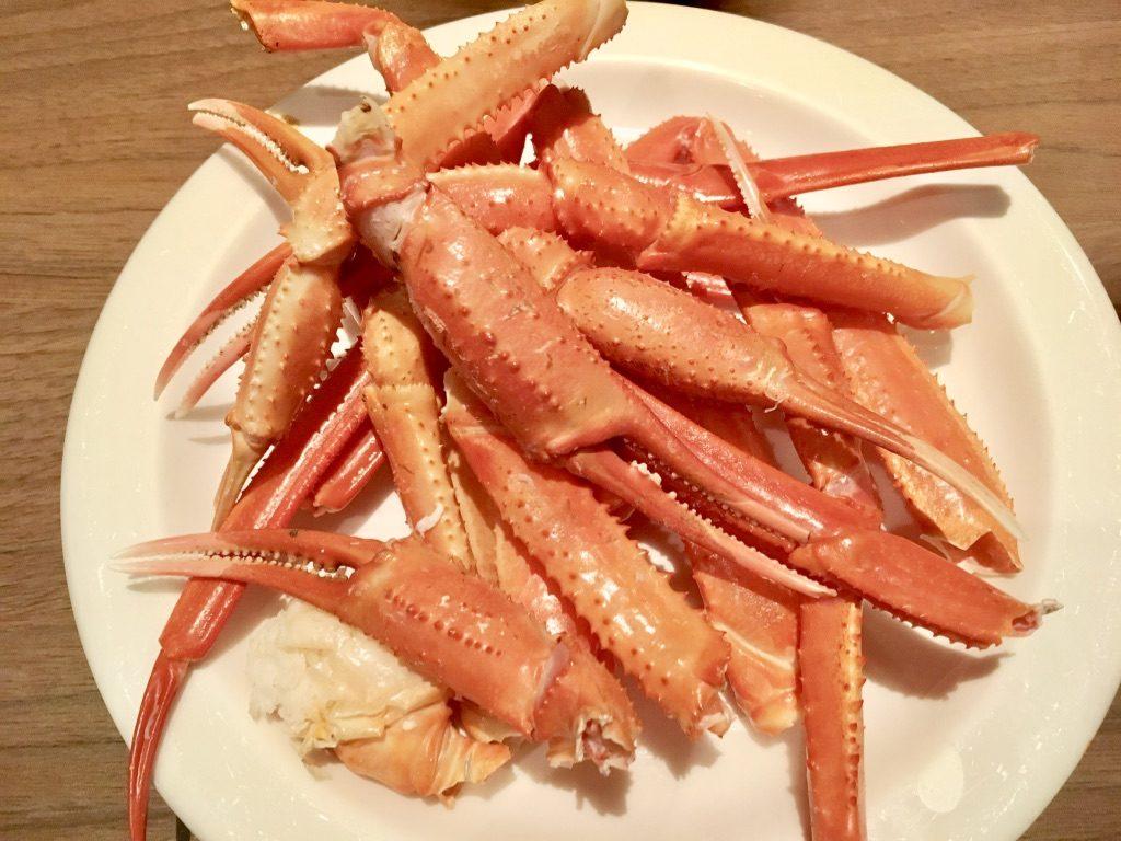 蟹の鉄板蒸し2皿目