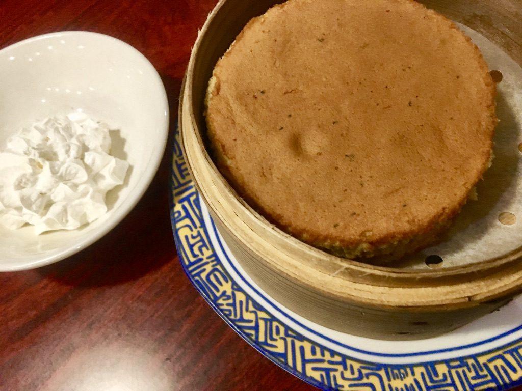ジャスミン茶の蒸籠蒸しシフォン