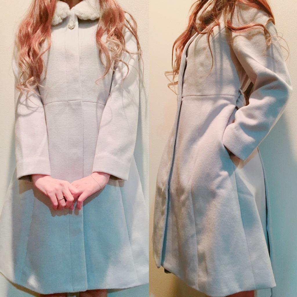 ミッシュマッシュ福袋2019年のコートを実際に着たところ