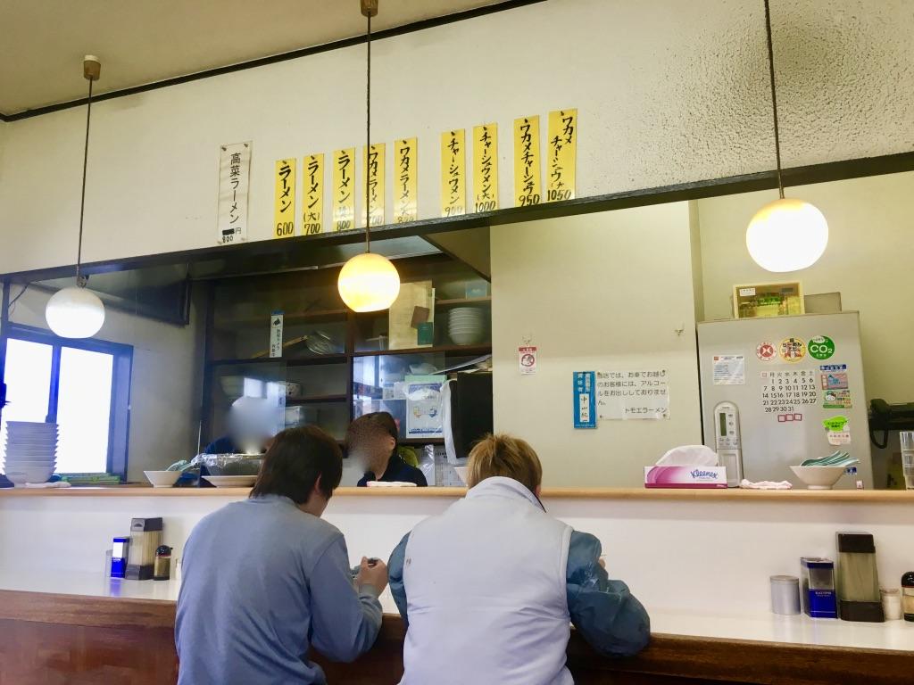 八王子ラーメン トモエ日野店店内