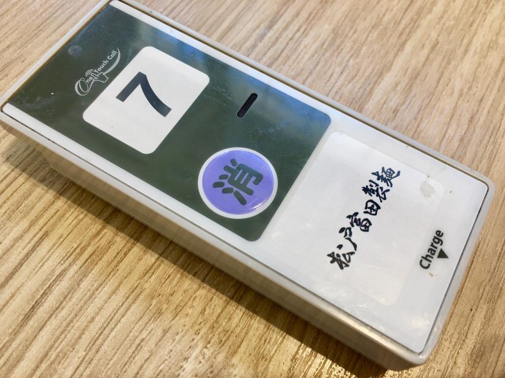 木更津アウトレット 松戸富田製麺 呼び出しベル