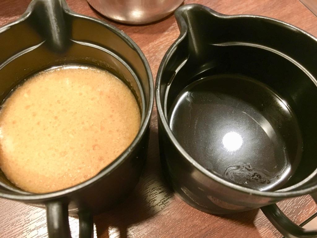 バーミヤン火鍋しゃぶしゃぶ食べ放題のつけダレ2種類
