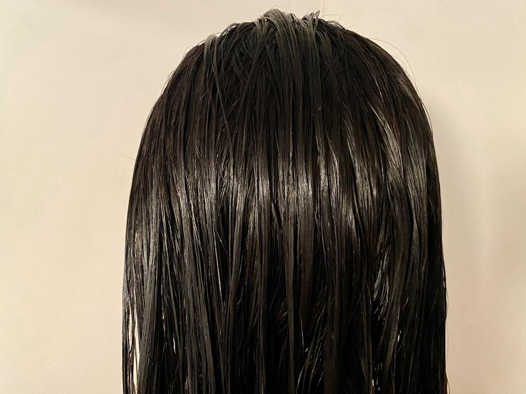 シャンプー後に琴髪ヘアトリートメントを塗った髪