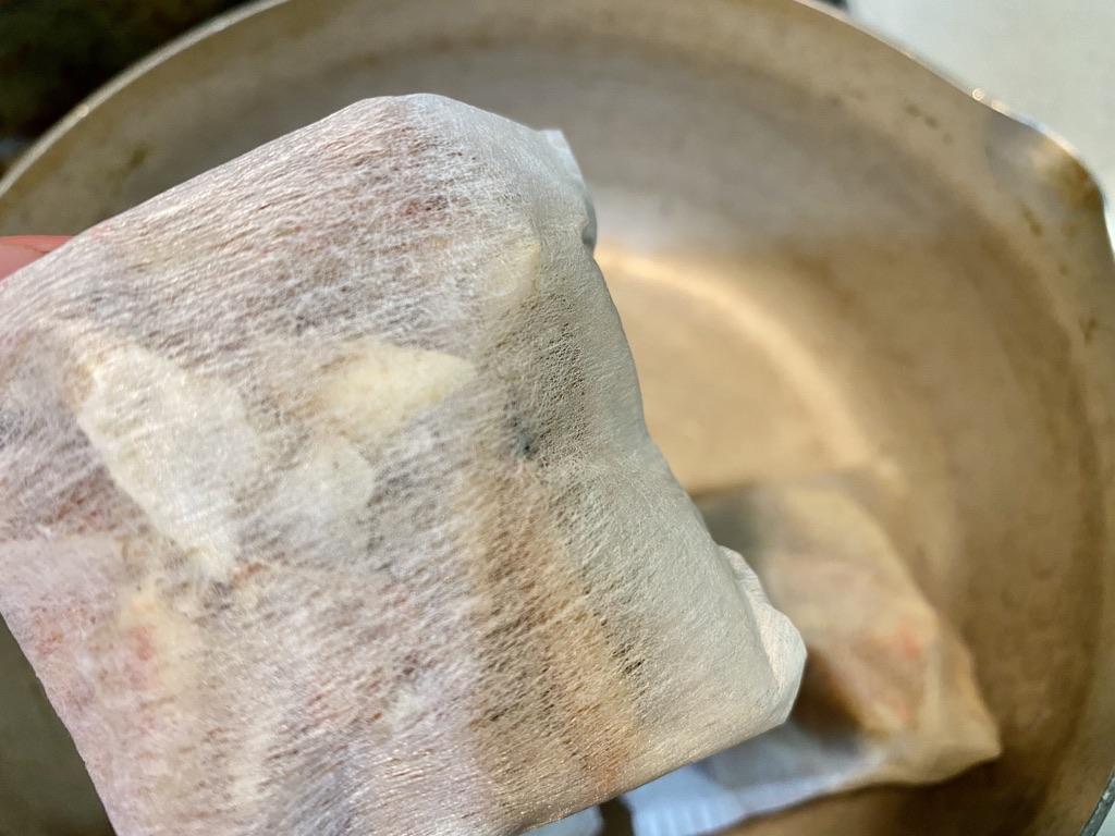 お茶っはポンに詰めた蟹の甲羅